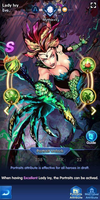 lady ivy eve x hero idle avengers
