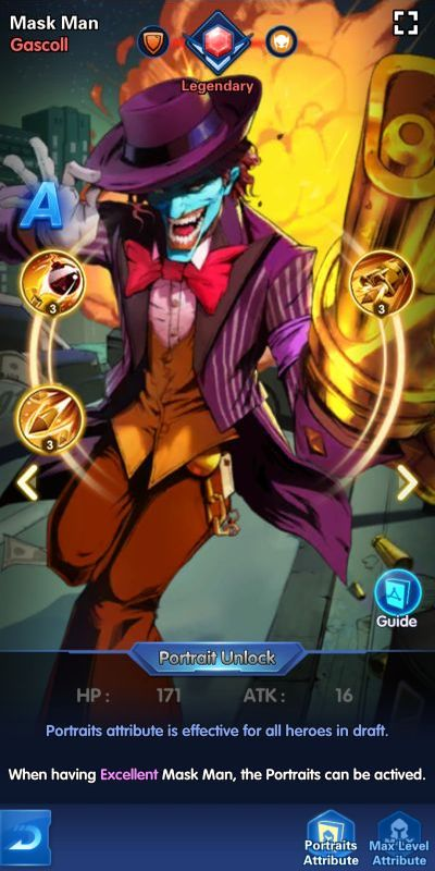 mask man gascoll x-hero idle avengers
