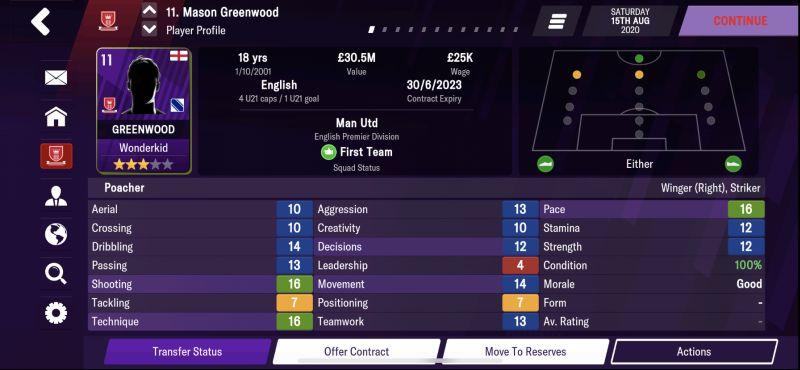 mason greenwood football manager 2021 mobile