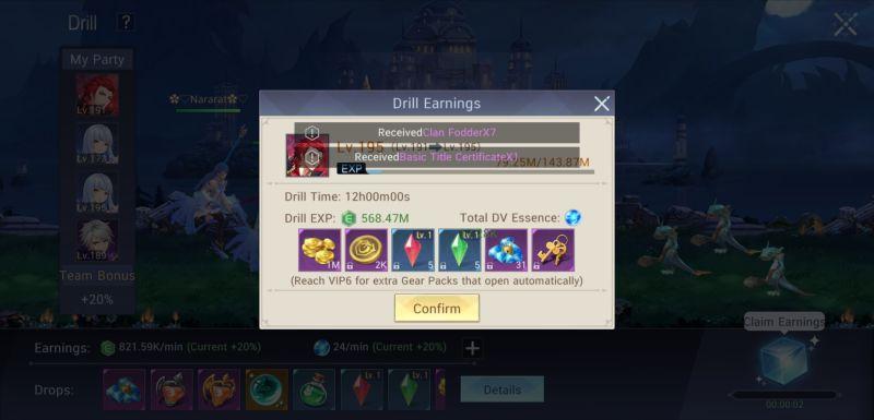 drill earnings master topia