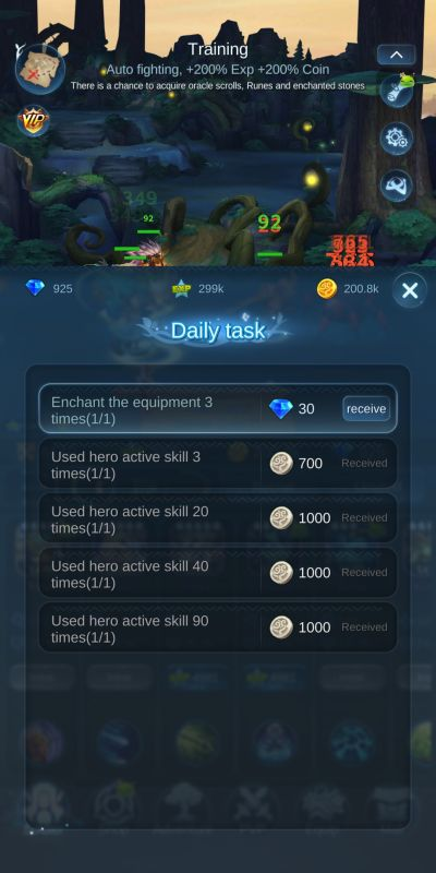 completing daily tasks mist forest