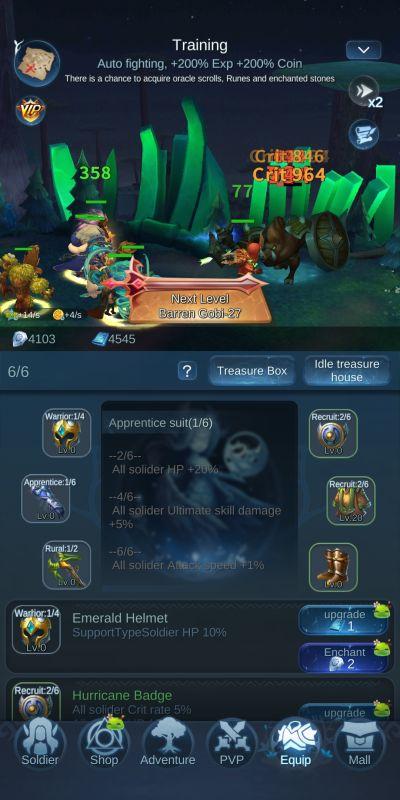 upgrading relics mist forest