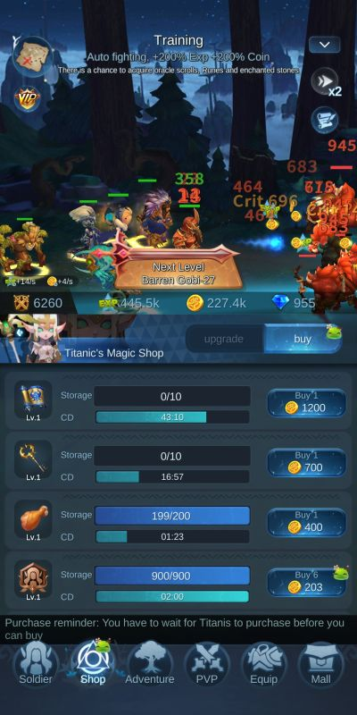 purchasing from shop mist forest