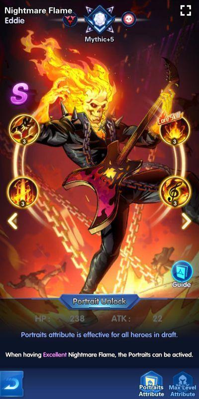 nightmare flame eddie x-hero idle avengers