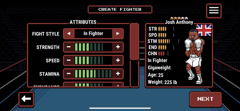 prizefighters 2 creating a fighter
