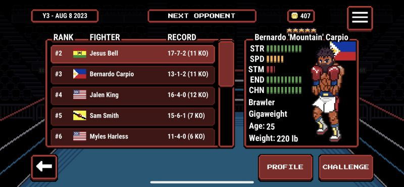 prizefighters 2 opponent record