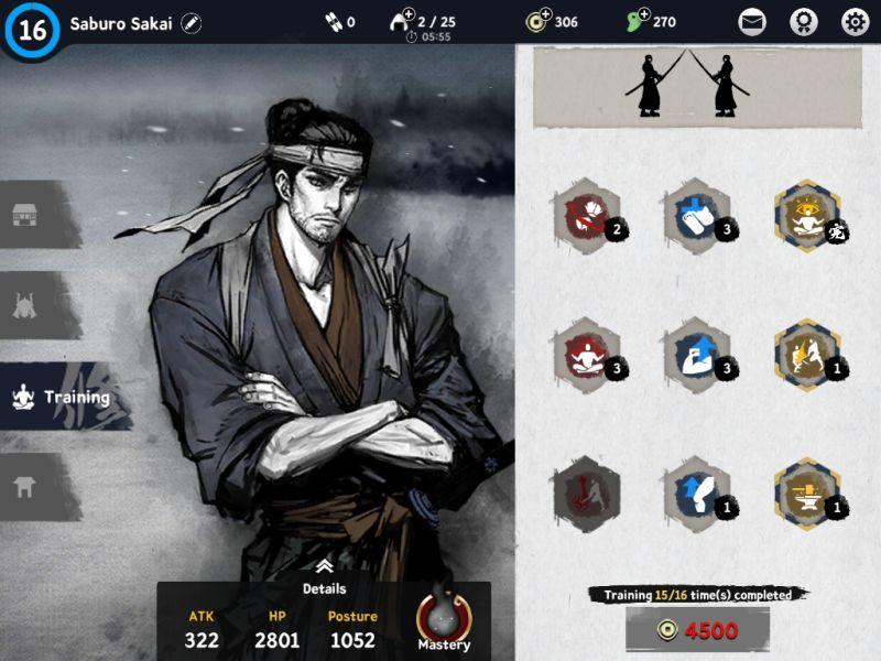 ronin the last samurai training