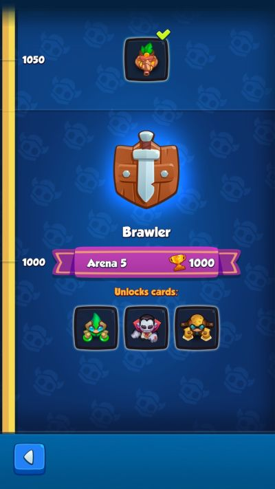 rush royale brawler rank