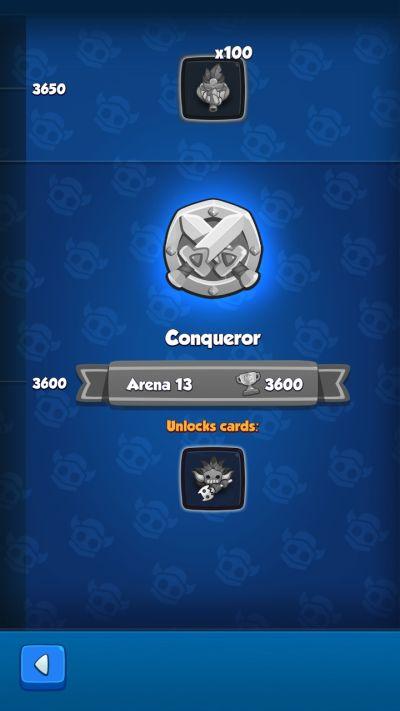 rush royale conqueror rank