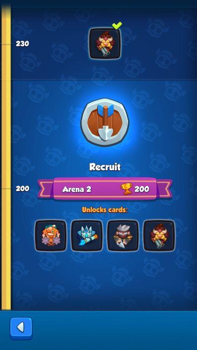 rush royale recruit rank