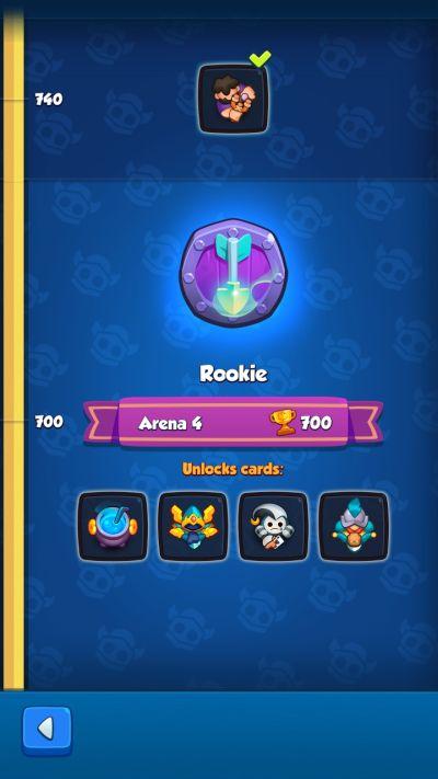 rush royale rookie rank