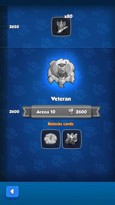 rush royale veteran rank