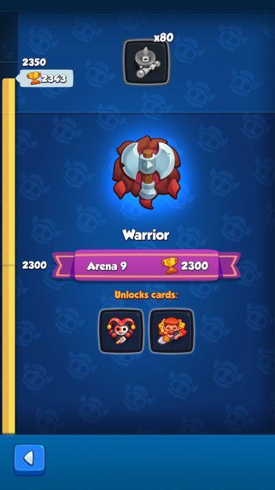 rush royale warrior rank