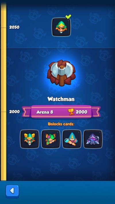 rush royale watchman rank
