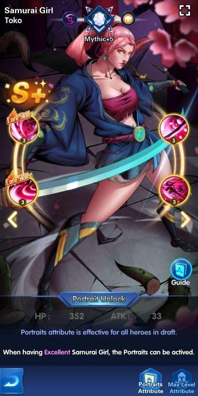 samurai girl toko x-hero idle avengers