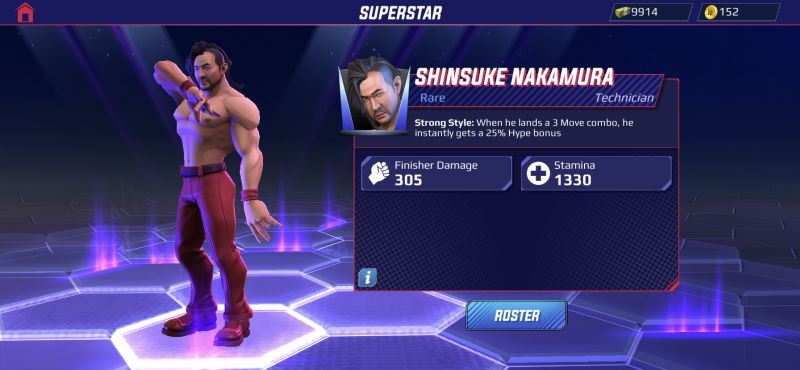 shinsuke nakamura wwe undefeated