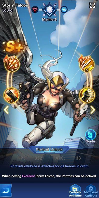 storm falcon lara x-hero idle avengers