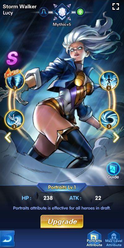 storm walker lucy x-hero idle avengers