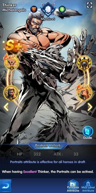 thinker michelangelo x-hero idle avengers