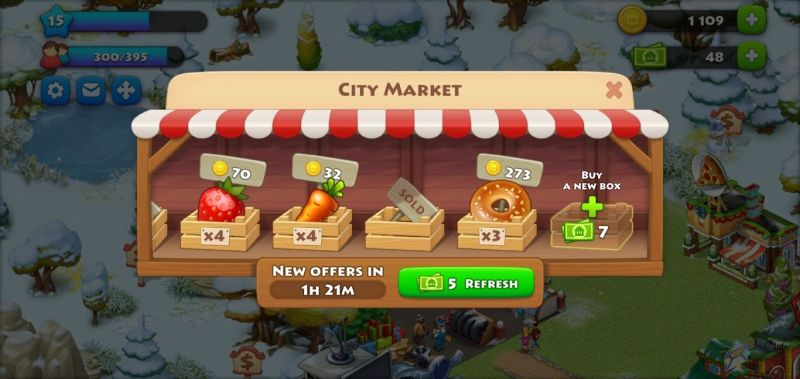 city market in township