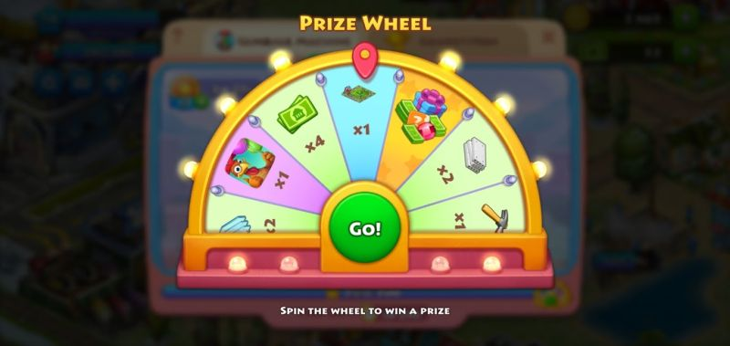 spinning the prize wheel in township
