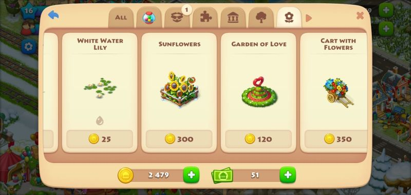 selling items in township
