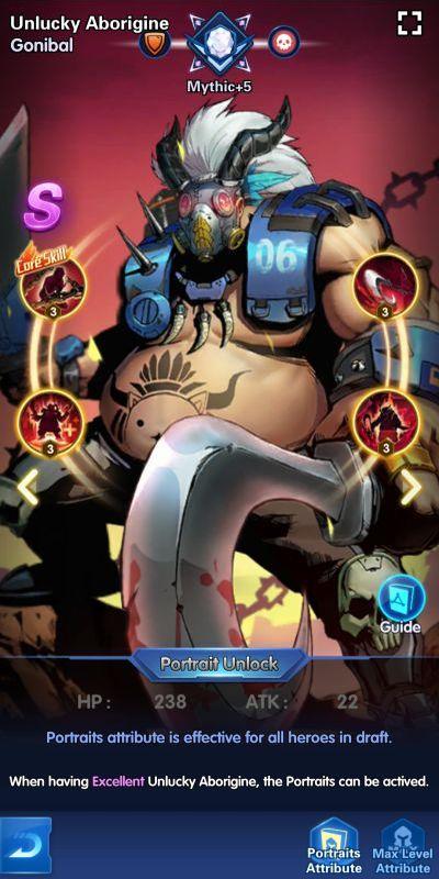 unlucky aborigine gonibal x-hero idle avengers
