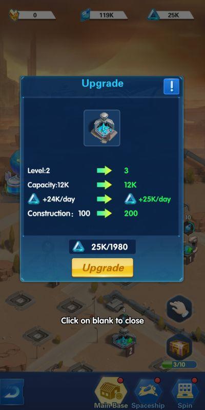 base upgrade x-hero idle avengers