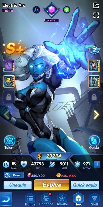 evolving a hero x-hero idle avengers