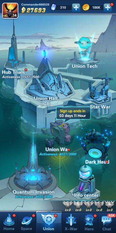 union x-hero idle avengers