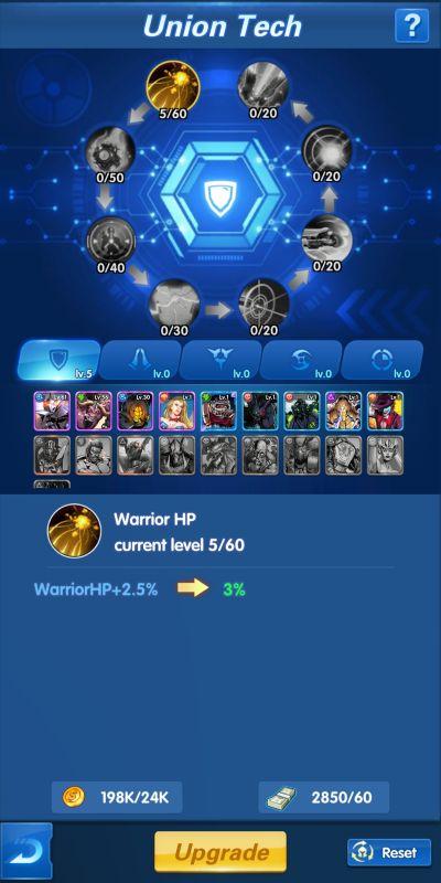 union tech x-hero idle avengers