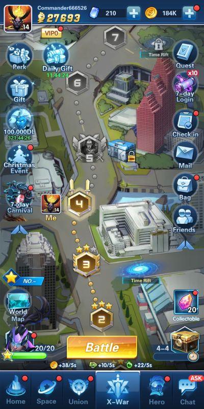 x-war campaign x-hero idle avengers