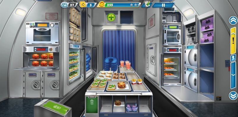 airplane chefs kitchen