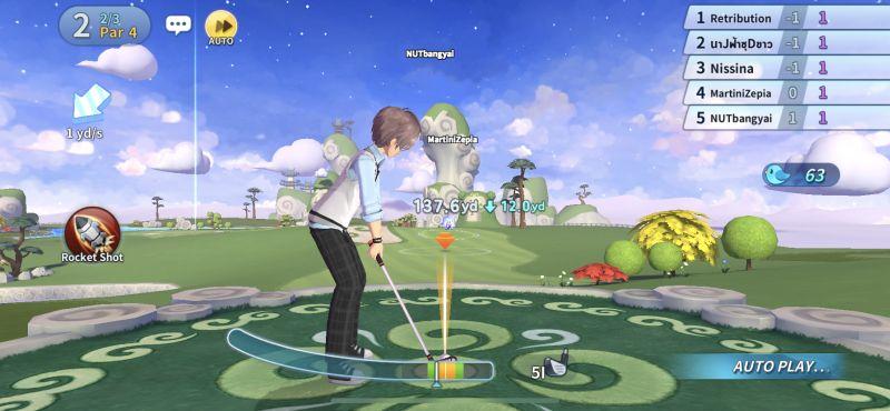 auto play birdie crush fantasy golf