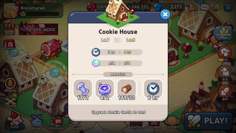 house upgrade cookie run kingdom