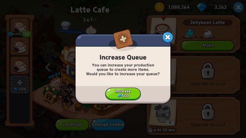 increasing production queue cookie run kingdom