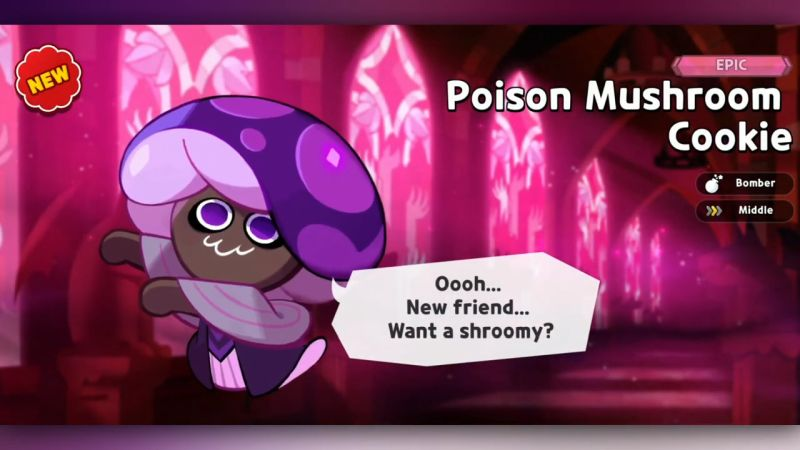 poison mushroom cookie cookie run kingdom
