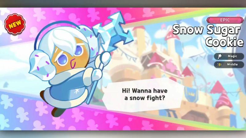 snow sugar cookie cookie run kingdom