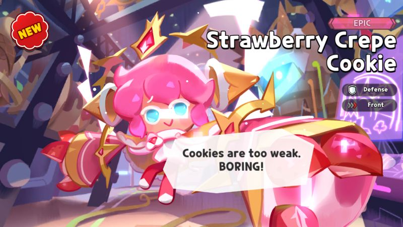 strawberry crepe cookie cookie run kingdom