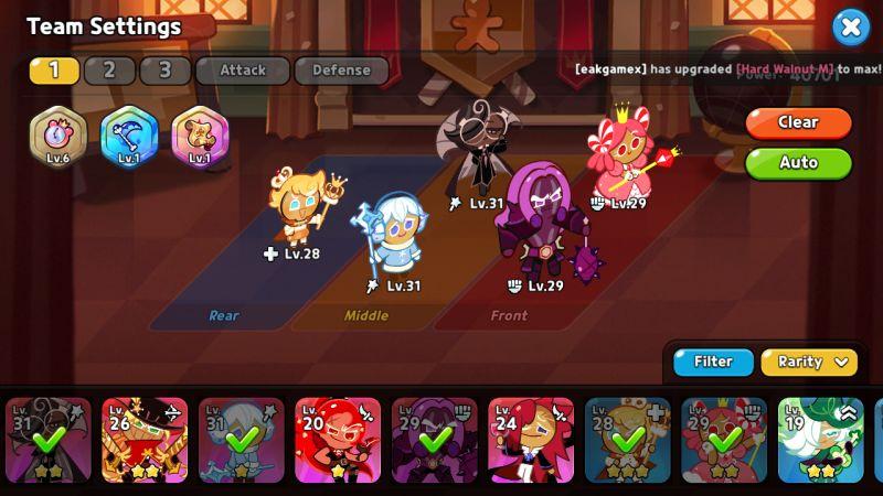 team settings cookie run kingdom