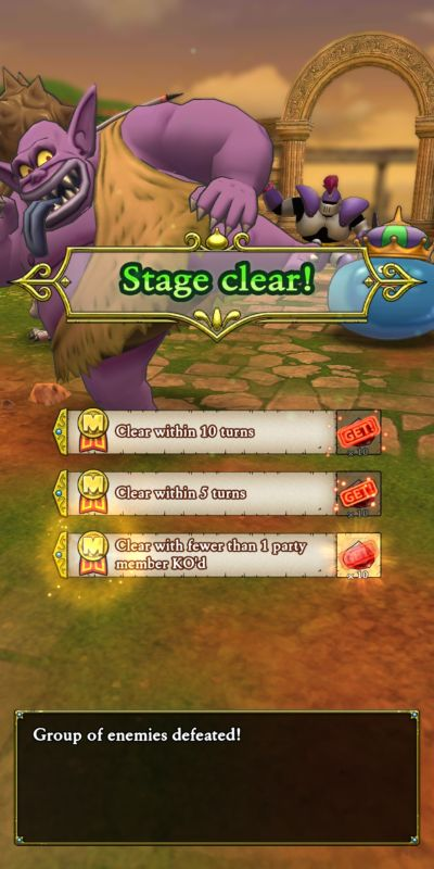 defeating enemies dragon quest tact