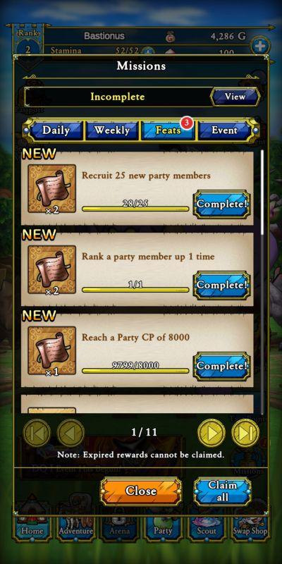 missions dragon quest tact