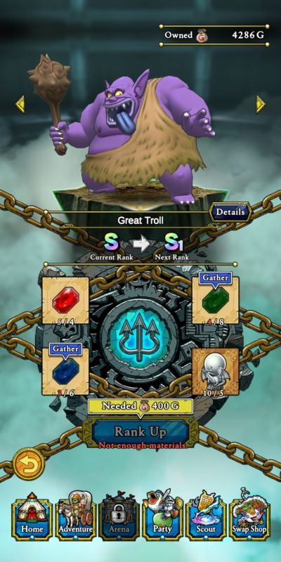 ranking up dragon quest tact