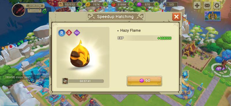 egg hatching dragon tamer