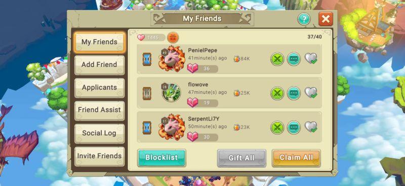 friends list dragon tamer