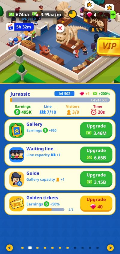 gallery upgrade idle museum tycoon