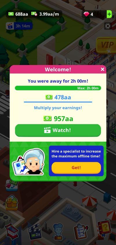 maximum offline rewards idle museum tycoon