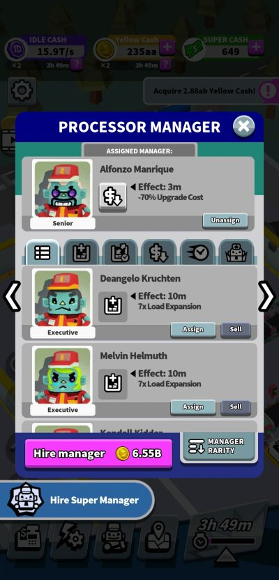 processor manager idle super factory