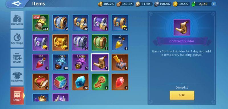 infinity kingdom items
