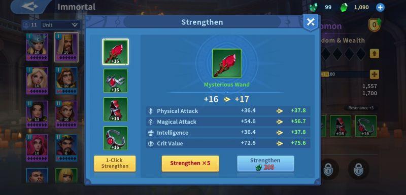 infinity kingdom strengthening immortal